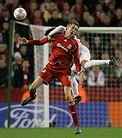 Photo: Paul Thomas/Sportsbeat Images.<br /> Liverpool v Besiktas. UEFA Champions League. 06/11/2007.<br /> <br /> Peter Crouch of Liverpool.