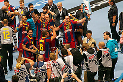 29.05.2011,  Lanxess Arena, Koeln, GER, EHF Final 4, FC Barcelona Borges (ESP) vs. Renovalia Ciudad Real (ESP), Finale, im Bild: Champions League Sieger Barcelona  EXPA Pictures © 2011, PhotoCredit: EXPA/ nph/  Mueller       ****** out of GER / SWE / CRO  / BEL ****** / SPORTIDA PHOTO AGENCY