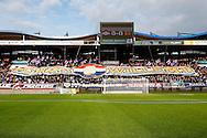 06-12-2015 VOETBAL:WILLEM II -CAMBUUR LEEUWARDENLTILBURG<br /> Willem II stadion met spandoek Kingzine Forza Willem II<br /> <br /> Foto: Geert van Erven