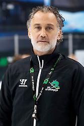 Jure Vnuk, head coach of HK SZ Olimpija at official photo shooting of HK ZS Olimpija before new ice hockey season 2018/19, on August 29, 2018 in Hala Tivoli, Ljubljana, Slovenia. Photo by Urban Urbanc / Sportida