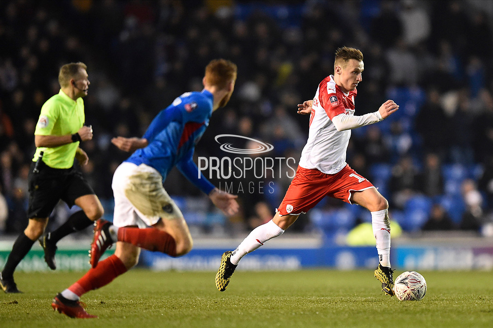 Marcel Ritzmaier (17) of Barnsley on the attack during the The FA Cup match between Portsmouth and Barnsley at Fratton Park, Portsmouth, England on 25 January 2020.
