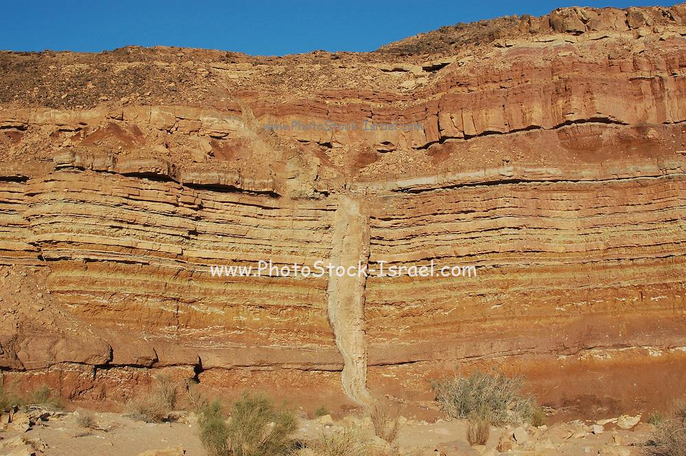Israel, Negev plains, Rock formation
