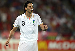 Fabio Grosso of Italy (3) during the UEFA EURO 2008 Quarter-Final soccer match between Spain and Italy at Ernst-Happel Stadium, on June 22,2008, in Wien, Austria. Spain won after penalty shots 4:2. (Photo by Vid Ponikvar / Sportal Images)