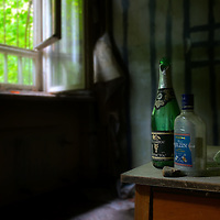 Some old Russian booze bottles.