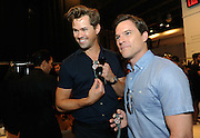 Actor Andrew Rannells, left, and Mike Doyle, pose with the new Timex Mod Watch which was featured in the Todd Snyder Spring 2017 fashion show, Thursday, July 14, 2016, at New York Fashion Week: Men's.  (Diane Bondareff/AP Images for Timex)