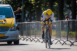 LEEZER Thomas from the Netherlands of Team Lotto NL - Jumbo during his race to 101th, stage 2 (ITT) of the 2016 Eneco Tour at Breda, Noord-Brabant, The Netherlands, 20 September 2016. <br /> Photo by Pim Nijland / PelotonPhotos.com | All photos usage must carry mandatory copyright credit (Peloton Photos | Pim Nijland)