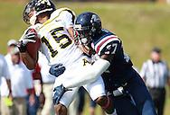 Samford defensive back Jaquiski Tartt (27) tackles Appalachian State wide receiver Tony Washington (15) at Seibert Stadium in Homewood, Ala., Saturday, Oct 13, 2012. (Marvin Gentry)