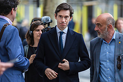 © Licensed to London News Pictures. 05/06/2019. London, UK. Conservative Party leadership contender Rory Stewart  MP (centre) arrives at a question and answer event in central London as part of his leadership campaign. Photo credit: Rob Pinney/LNP