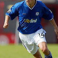 Simon Donnelly<br />St Johnstone FC Season 2003-2004<br /><br />Picture by Graeme Hart.<br />Copyright Perthshire Picture Agency<br />Tel: 01738 623350  Mobile: 07990 594431