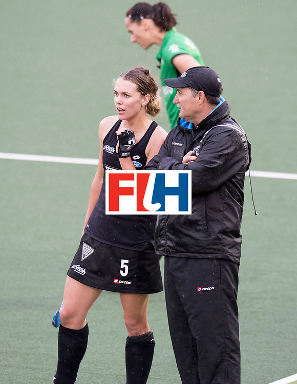 AUCKLAND - Sentinel Hockey World League final women<br /> Match id 10295<br /> 05 New Zealand  v Korea<br /> Foto: Mark HAGER Head Coach and Frances Davies.<br /> WORLDSPORTPICS COPYRIGHT FRANK UIJLENBROEK