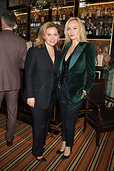 Left to right,LARA MINGAY and Sarah-Ann Murray the Fashion Director at The RAKE Magazine at a cocktail reception hosted by the Woolmark Company, Pierre Lagrange and the Savile Row Bespoke Association to celebrate 'The Ambassador's Project' for London Collections Mens at Marks Club, Charles street, London on 8th January 2016.