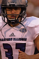 NORMAL, IL - September 08: Matt Severino during 107th Mid-America Classic college football game between the ISU (Illinois State University) Redbirds and the Eastern Illinois Panthers on September 08 2018 at Hancock Stadium in Normal, IL. (Photo by Alan Look)