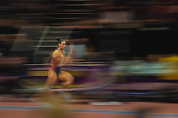 March 4, 2018 - Birmingham, England, United Kingdom - Ivana Spanovic ofSerbia wins long jump at World indoor Athletics Championship 2018, Birmingham, England on March 4, 2018. (Credit Image: © Ulrik Pedersen/NurPhoto via ZUMA Press)