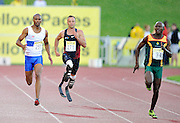 GERMISTON, SOUTH AFRICA, Saturday 25 February 2011, Oscar Pistorius (Blade Runner) during the Yellow Pages Interprovincial held at the Herman Immelman stadium..Photo by ImageSA/ASA
