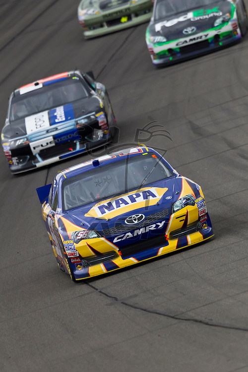 KANSAS CITY, KS - APR 22, 2012:  Martin Truex, Jr. (56) races during the STP 400 at the Kansas Speedway in Kansas City, KS.