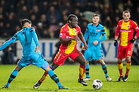 DEVENTER - 13-01-2017, Go Ahead Eagles - AZ,  Stadion Adelaarshorst, 1-3, debuut GA Eagles speler Elvis Manu.
