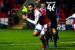 Joe Mattock of Rotherham United celebrates his late equaliser - Mandatory by-line: Ryan Crockett/JMP - 15/12/2018 - FOOTBALL - Aesseal New York Stadium - Rotherham, England - Rotherham United v Reading - Sky Bet Championship