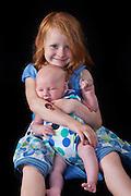Big sister Veronika with her newborn brother Jesse
