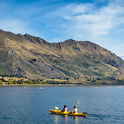 Yellow canoes for hire at Wanaka