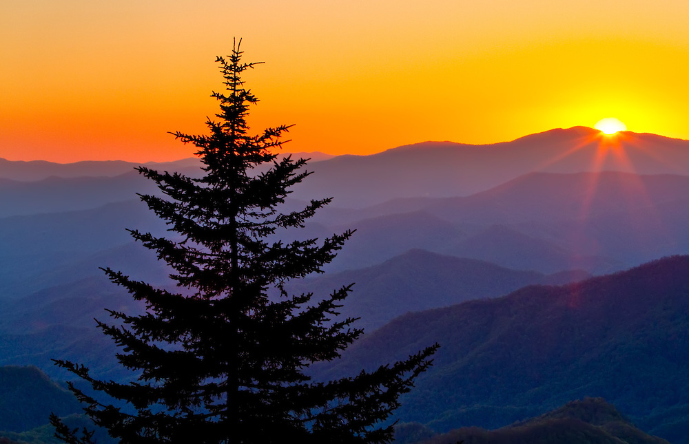 Waterrock Knob sunset