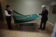 Placing Funeral Prayer Blanket, Ft.Greene, Brooklyn