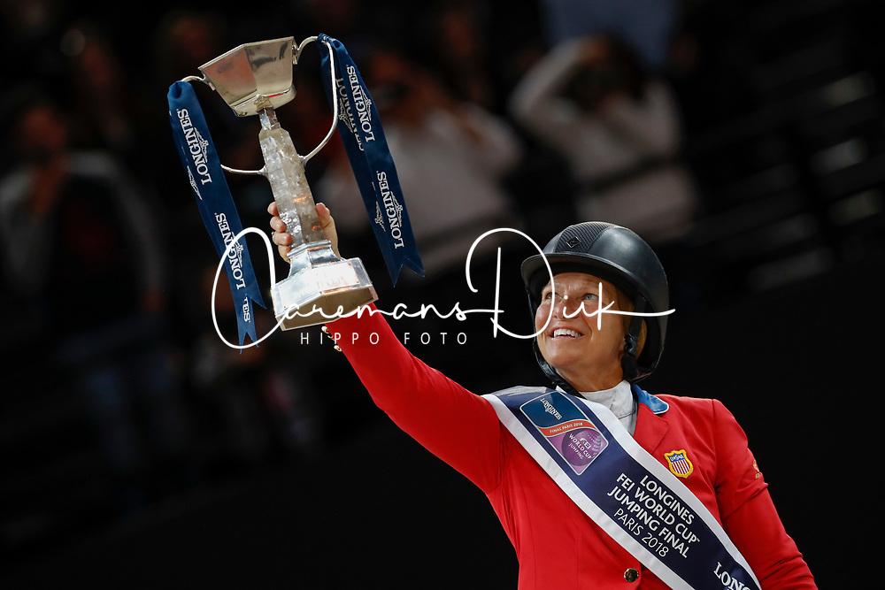 Madden Beezie, USA<br /> LONGINES FEI World Cup™ Finals Paris 2018<br /> © Dirk Caremans<br /> 15/04/18