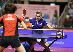 31.01.2016, Max Schmeling Halle, Berlin, GER, German Open 2016, im Bild Ho Ching Lee (HKG) bei der Ballannahme // during the table Tennis 2016 German Open at the Max Schmeling Halle in Berlin, Germany on 2016/01/31. EXPA Pictures © 2016, PhotoCredit: EXPA/ Eibner-Pressefoto/ Wuest<br /> <br /> *****ATTENTION - OUT of GER*****