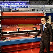 Luc Tack Managing Director of the Picanol Group. <br /> ITMA, la rassegna mondiale delle macchine tessili. 14/11/2015 Fiera Rho Milano