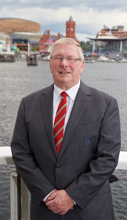 CARDIFF, WALES - Tuesday, September 1, 2015: New FAW President David Griffiths pictured at the St. David's Hotel in Cadiiff Bay. (Pic by David Rawcliffe/Propaganda)