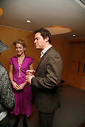 KATE PAKENHAM AND DOMINIC WEST,. After-drinks JOSEPHINE HART Poetry Hour. British Library. Euston Rd. London. 22 March 2006. ONE TIME USE ONLY - DO NOT ARCHIVE  © Copyright Photograph by Dafydd Jones 66 Stockwell Park Rd. London SW9 0DA Tel 020 7733 0108 www.dafjones.com