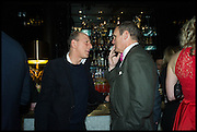WILLIAM SIEGHART; A.A. GILL, Party to celebrate Vanity Fair's very British Hollywood issue. Hosted by Vanity Fair and Working Title. Beaufort Bar, Savoy Hotel. London. 6 Feb 2015