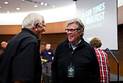 Washington Post journalist David Maraniss speaks with an attendee at the Cap Times 2017 Idea Fest, Sunday, September 17, 2017
