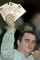 Voting at National Union of Journalists Annual Delegate Meeting