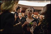 EVA HERZIGOVA; ROSSY DE PALMA Liberatum Cultural Honour for Francis Ford Coppola<br /> with Bulgari Hotel & Residences, London. 17 November 2014