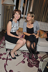 Left to right, KATHY LETTE and PENNY SMITH at The Great Initiative event in association with jewellers Boodles held at The Corinthia Hotel, London on 6th November 2012.