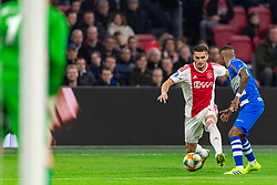 13-03-2019 NED: Ajax - PEC Zwolle, Amsterdam<br /> Ajax has booked an oppressive victory over PEC Zwolle without entertaining the public 2-1 / Dusan Tadic #10 of Ajax, Kenneth Paal #5 of PEC Zwolle