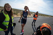 Aniek Rooderkerken tijdens de zesde en laatste racedag. Het Human Power Team Delft en Amsterdam, dat bestaat uit studenten van de TU Delft en de VU Amsterdam, is in Amerika om tijdens de World Human Powered Speed Challenge in Nevada een poging te doen het wereldrecord snelfietsen voor vrouwen te verbreken met de VeloX 7, een gestroomlijnde ligfiets. Het record is met 121,81 km/h sinds 2010 in handen van de Francaise Barbara Buatois. De Canadees Todd Reichert is de snelste man met 144,17 km/h sinds 2016.<br /> <br /> With the VeloX 7, a special recumbent bike, the Human Power Team Delft and Amsterdam, consisting of students of the TU Delft and the VU Amsterdam, wants to set a new woman's world record cycling in September at the World Human Powered Speed Challenge in Nevada. The current speed record is 121,81 km/h, set in 2010 by Barbara Buatois. The fastest man is Todd Reichert with 144,17 km/h.