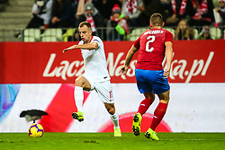 November 15, 2018 - Gdansk, Poland - Kamil Grosicki of Poland vies Pavel Kaderabek of Czech Republic during the international friendly soccer match between Poland and Czech Republic at Energa Stadium in Gdansk, Poland on 15 November 2018. (Credit Image: © Foto Olimpik/NurPhoto via ZUMA Press)