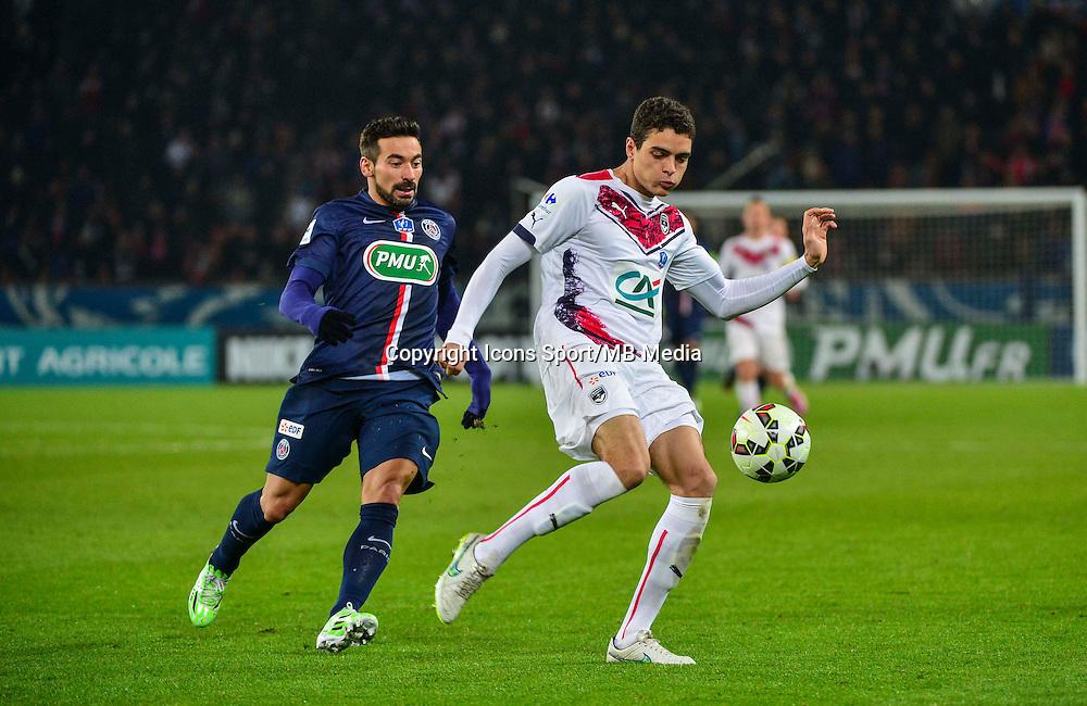 Tiago ILORI / Ezequiel LAVEZZI - 21.01.2015 - Paris Saint Germain / Bordeaux - Coupe de France<br /> Photo : Dave Winter / Icon Sport