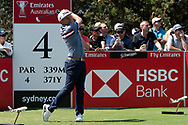 Cameron Smith (AUS) on the forth tee at Day 1 of The Emirates Australian Open Golf at The Lakes Golf Club in Sydney, Australia.