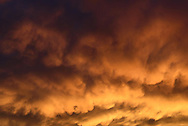 Intense colors fill the sky after a summer thunderstorm in Sheridan, Wyoming.