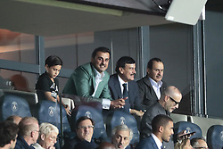 September 18, 2019, Paris, Ile de France, France: Tamis ben Hamad Al Thani (PSG) and his son (Credit Image: © Panoramic via ZUMA Press)