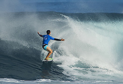 December 18, 2017 - Banzai Pipeline, HI, USA - BANZAI PIPELINE, HI - DECEMBER 18, 2017 - Gabriel Medina of Brazil bows to a wave after making a long tube ride in the Billabong Pipe Masters. Medina lost to Jeremy Flores of France in the quarterfinals. (Credit Image: © Erich Schlegel via ZUMA Wire)