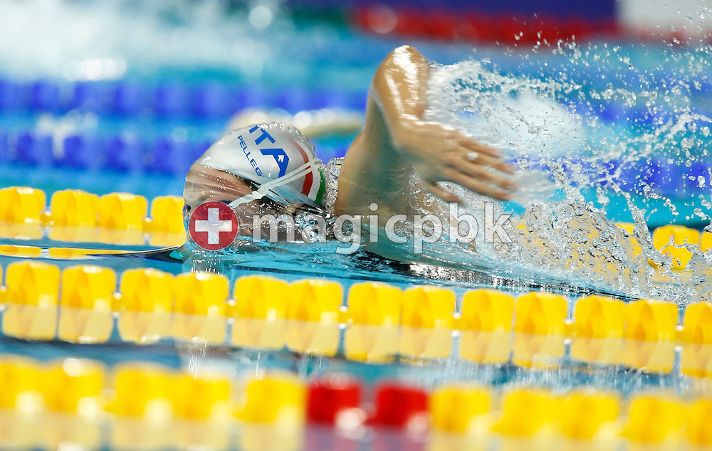Federica PELLEGRINI of Italy on her way winning in a new World Record time in the women's 200m Freetsyle Final at the 13th European Short Course Swimming Championships in Istanbul, Turkey, Sunday, Dec. 13, 2009. (Photo by Patrick B. Kraemer / MAGICPBK)