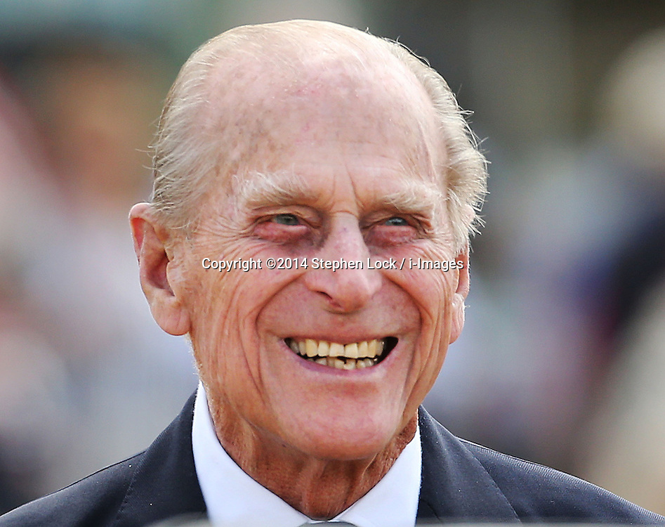The Duke of Edinburgh watches the action  during the second day of the Royal Windsor Horse Show in Windsor, United Kingdom, Thursday, 15th May 2014. Picture by Stephen Lock / i-Images