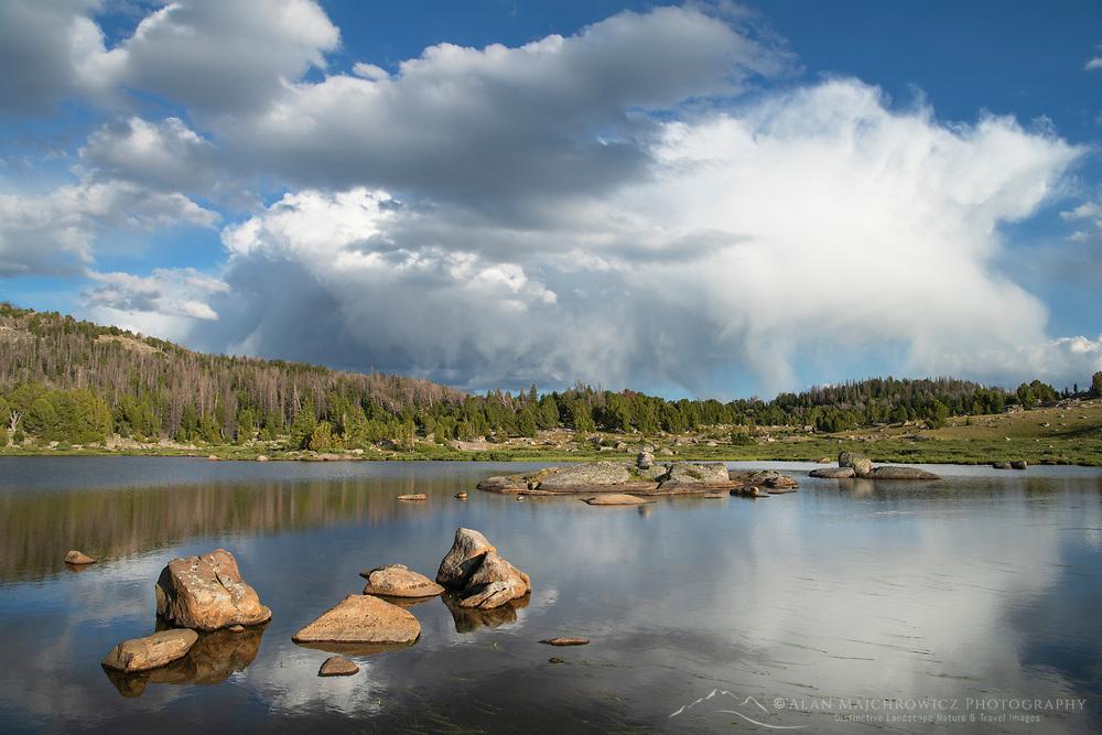 Unnamed lake along the Fremont Trail. Beridger Wilderness, Wind River River Range Wyoming