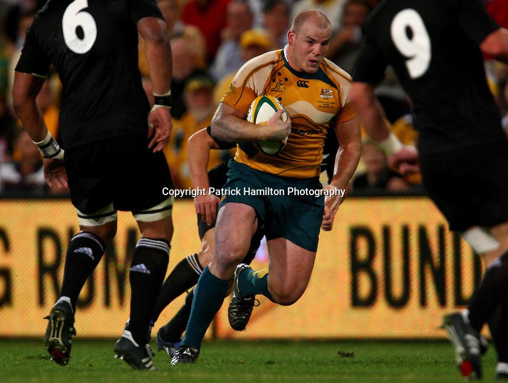 Stephen Moore.All Blacks v Australia Tri Nations Rugby Union Test Match. Suncorp Stadium ,Brisbane. Australia,Saturday 13 September 2008 .