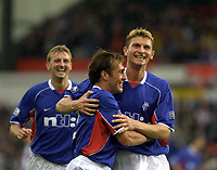 Fotball: Dunfermline v Rangers, Scottish Premier League, East EDnd Park, Dunfermline. Pic Ian Stewart, Saturday 11th. August 2001<br />