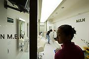 Hongdae. Closing hour at M.E.N. hairdresser.