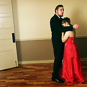 Jakob Showell and Kristine Moser dance during Central High School's prom at the Grand Ballroom, Apr. 28, 2007. THOMAS PATTERSON | Statesman Journal